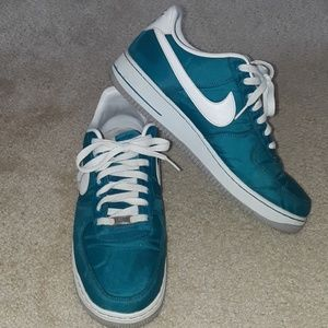 Teal Nike Air Force 1s